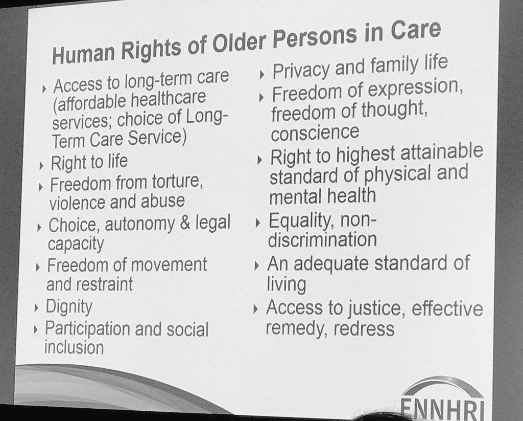 Human Rights of #OlderPersons in #Care  #DDHH de #personasmayores que requieren #cuidados #OEWG8 #Ageing #GlobalGoals  #vejez #Dignidad<br>http://pic.twitter.com/4PxMyCzJRi