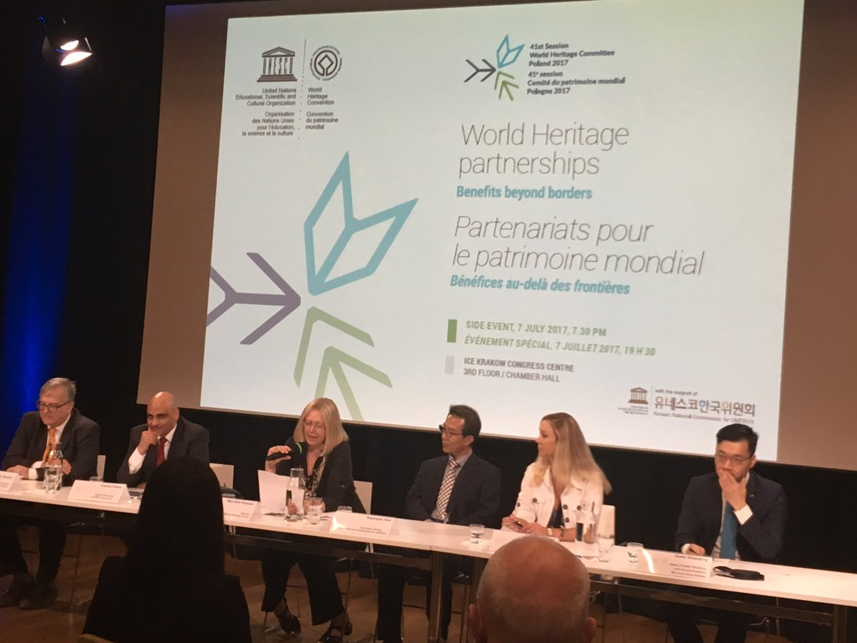 41com hashtag on twitter 41com krakow side event on worldheritage partnerships with mechtildrossler grateful to our partners for their supportunite4heritagepicitter publicscrutiny Images