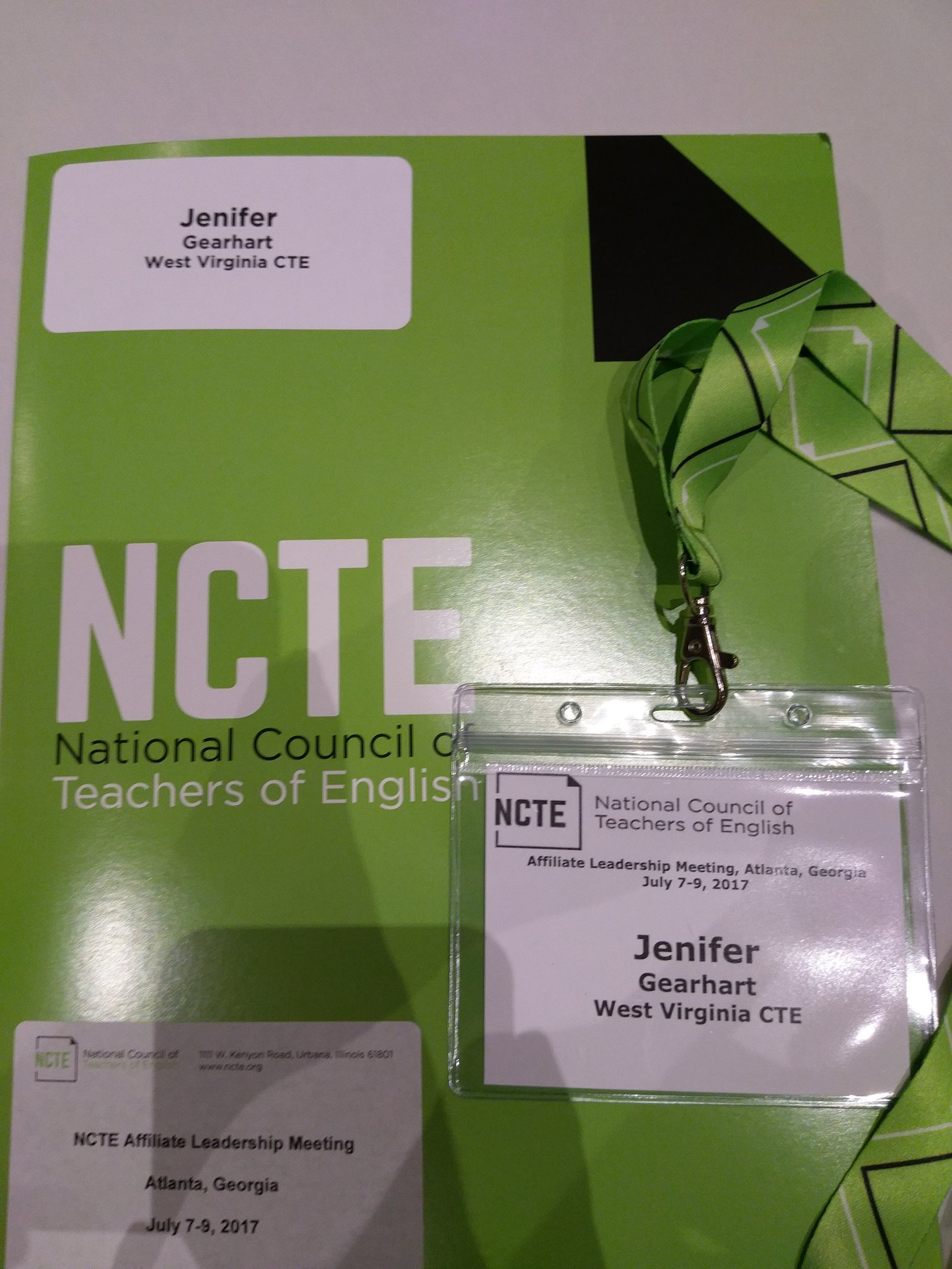 @wvcte Ready for some learning and networking #NCTEaffiliate #teachersworking https://t.co/gtmcB8fACT