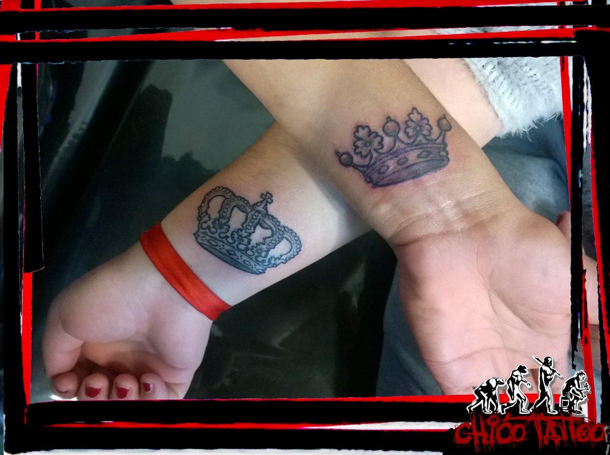 Chicotattoo On Twitter Tattoo Coronas Rey Reina Negroysombras