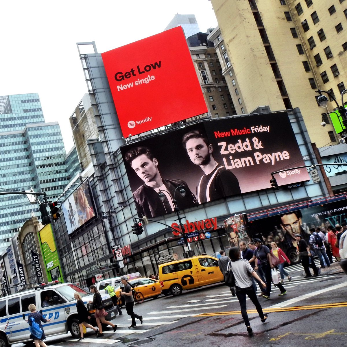 Loving the #GetLow billboard up in Times Square 👌🏼