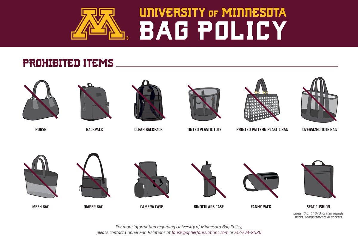 tcf bank stadium bag policy