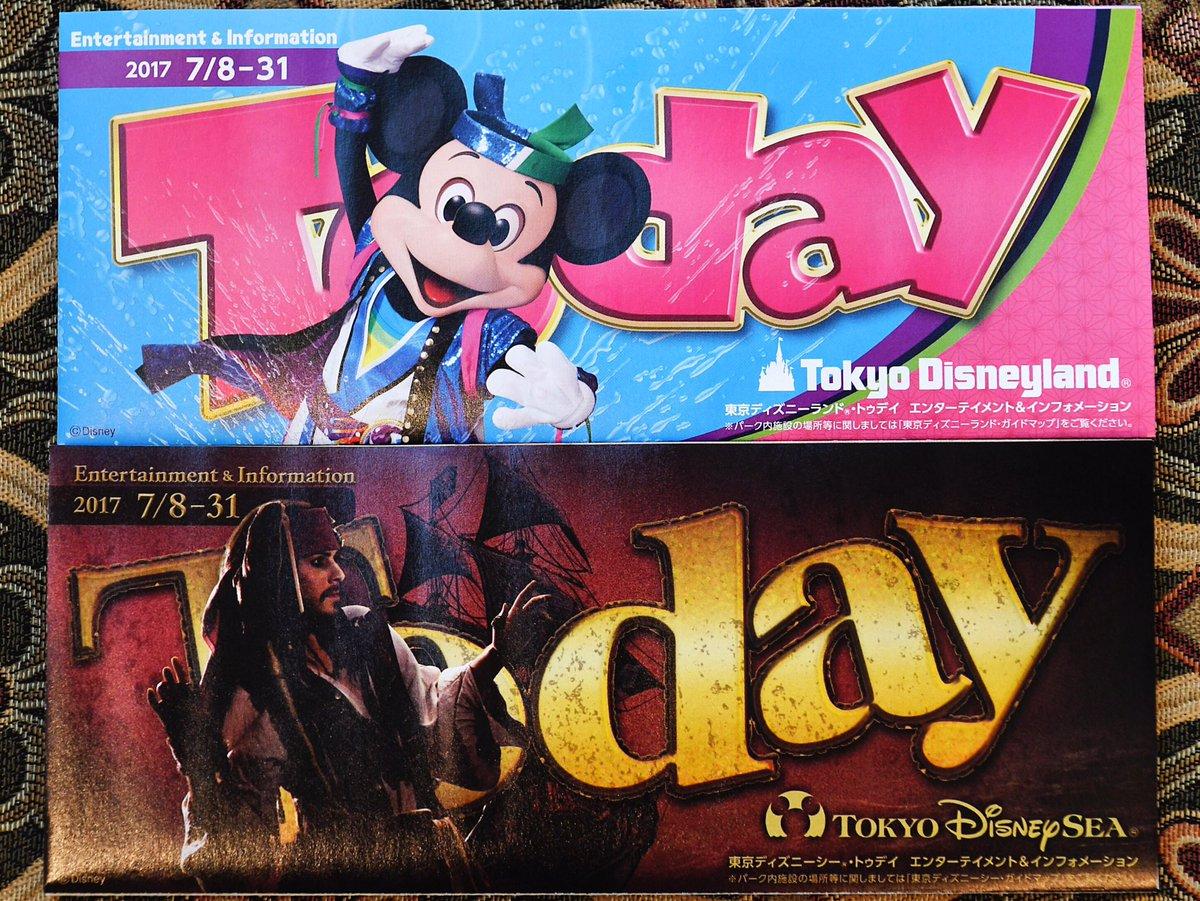 7月8日から7月31日までのToday ディズニーランドはミッキー ディズニーシーはジャック・スパロウ dlove.jp/mezzomiki/tdl/…
