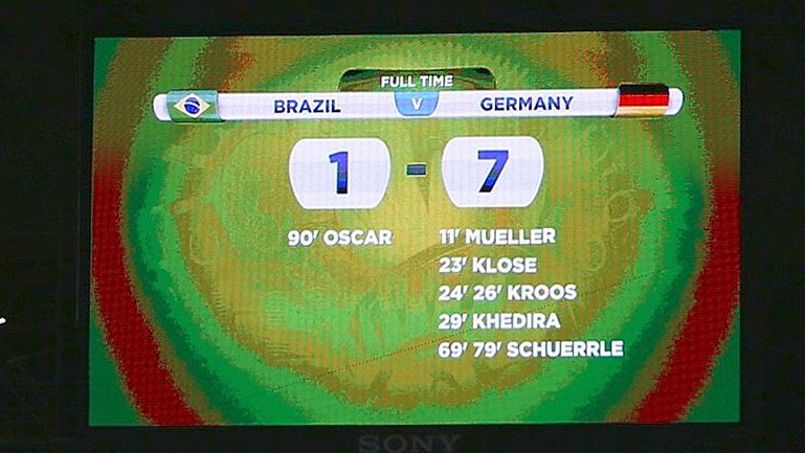 [#Histoire⏳] Il y a 3 ans jour pour jour, l'Allemagne humiliait le Brésil à domicile en demi-finale de la Coupe du Monde 2014...