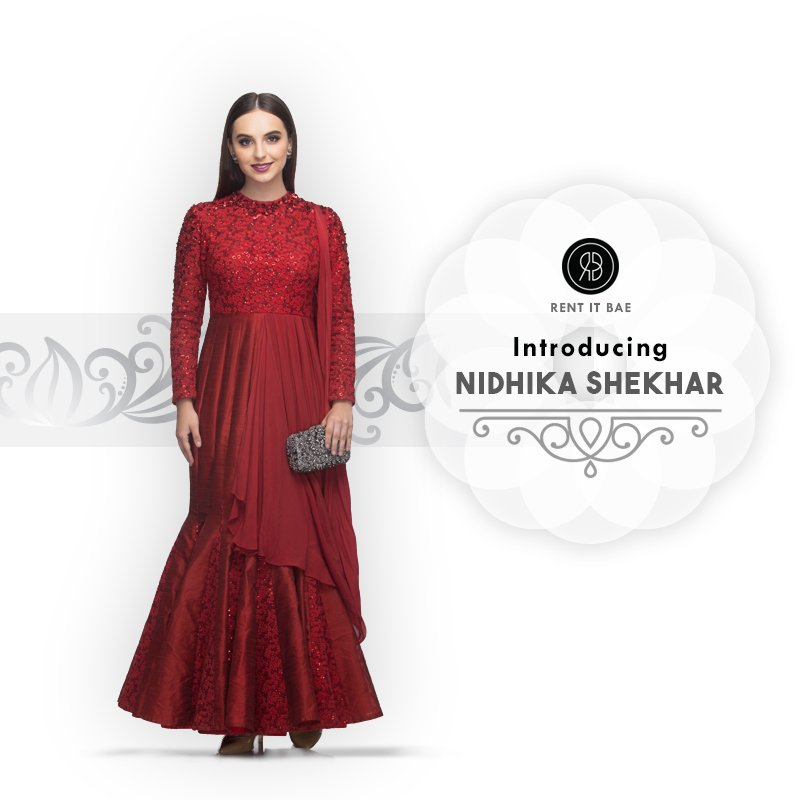 Introducing Nidhika Shekhar with lovely cuts in gowns for u all this wedding season. https://goo.gl/T1AAyX #rib #rentitbae #nidhikashekhar pic.twitter.com/7qrbIlBgBm