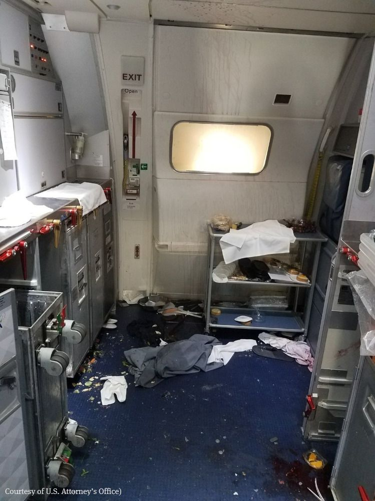 UPDATE: Man charged with interfering with crew on Seattle-to-Beijing flight. Photo shows Delta cabin after brawl.  https://t.co/Rg4kAzag5v