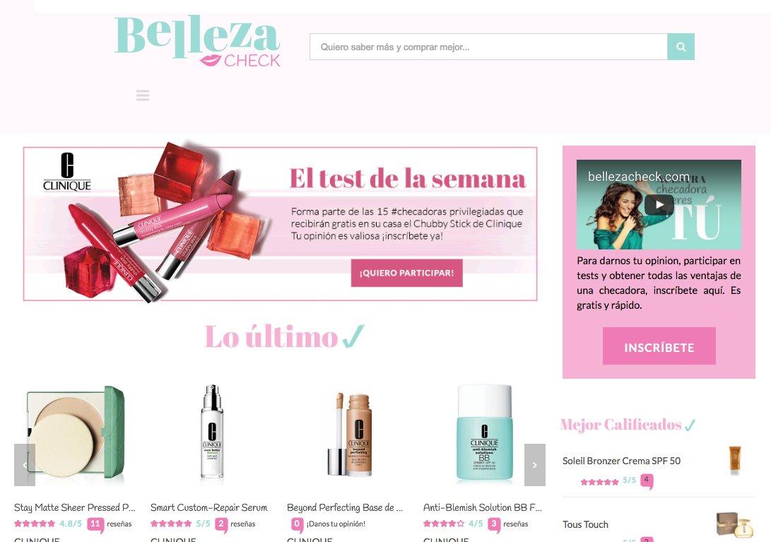 Conoce @bellezacheck, el 1º sitio de reseñas de consumidoras sobre productos de belleza en México https://t.co/Um06gf3s4A https://t.co/QwKZ278CQh