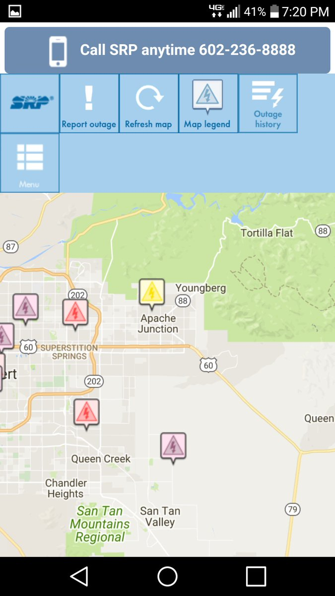 Srp Power Outage Map Cleveland Rta Map Map Of Northern Mexico