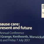 Great conference - overwhelming evidence to support safety & effectiveness of HRT. Too many women needlessly suffering. Not right! #BMS2017