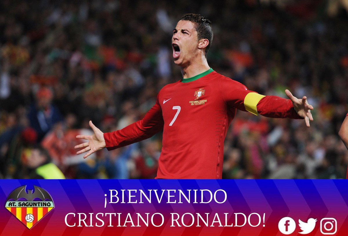 Un club de segunda B de España anunció el fichaje de Cristiano Ronaldo