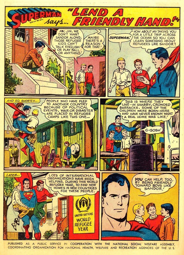 As usual, Superman has a better policy on refugees than most governments. The Parable of the Good Kryptonian. https://t.co/ZjYnncjBTW