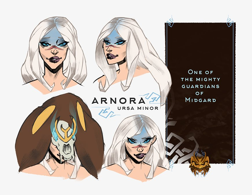 Finally she have a name! Arnora! ^-^ #norse #oc