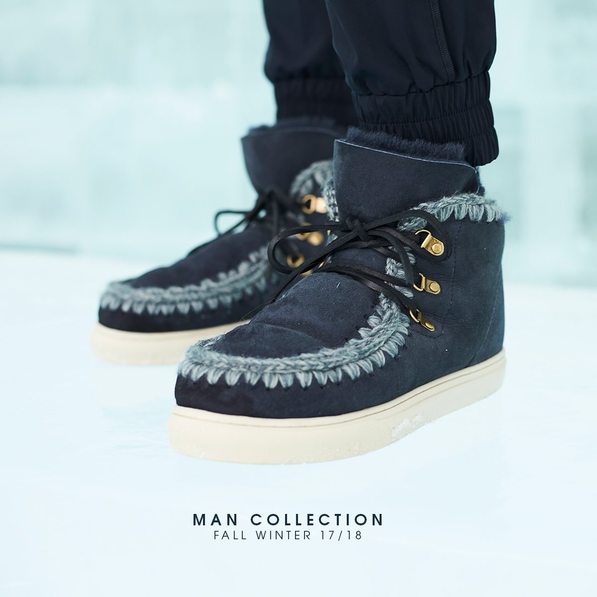 mou lace up boots