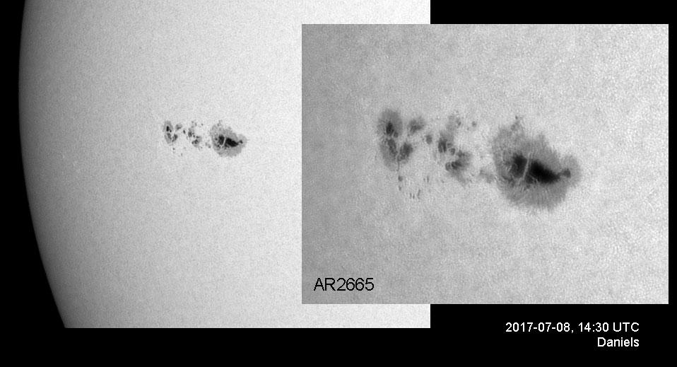 Risultati immagini per Sunspot AR2665