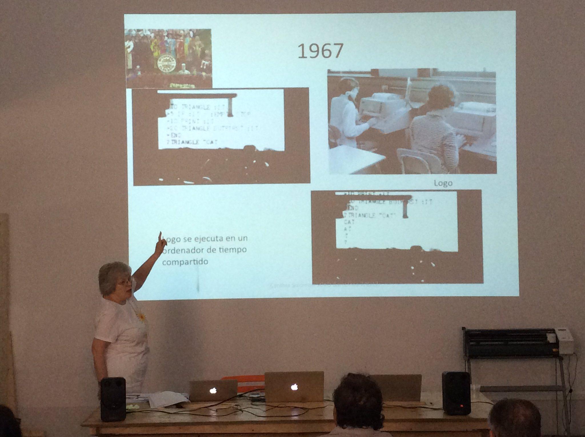 Fa 50 anys la Cynthia Solomon va participar en la creació de LOGO... i avui ens ho està explicant! #50yearsLOGO https://t.co/hGW6cSNULO https://t.co/FWuXqu6thc