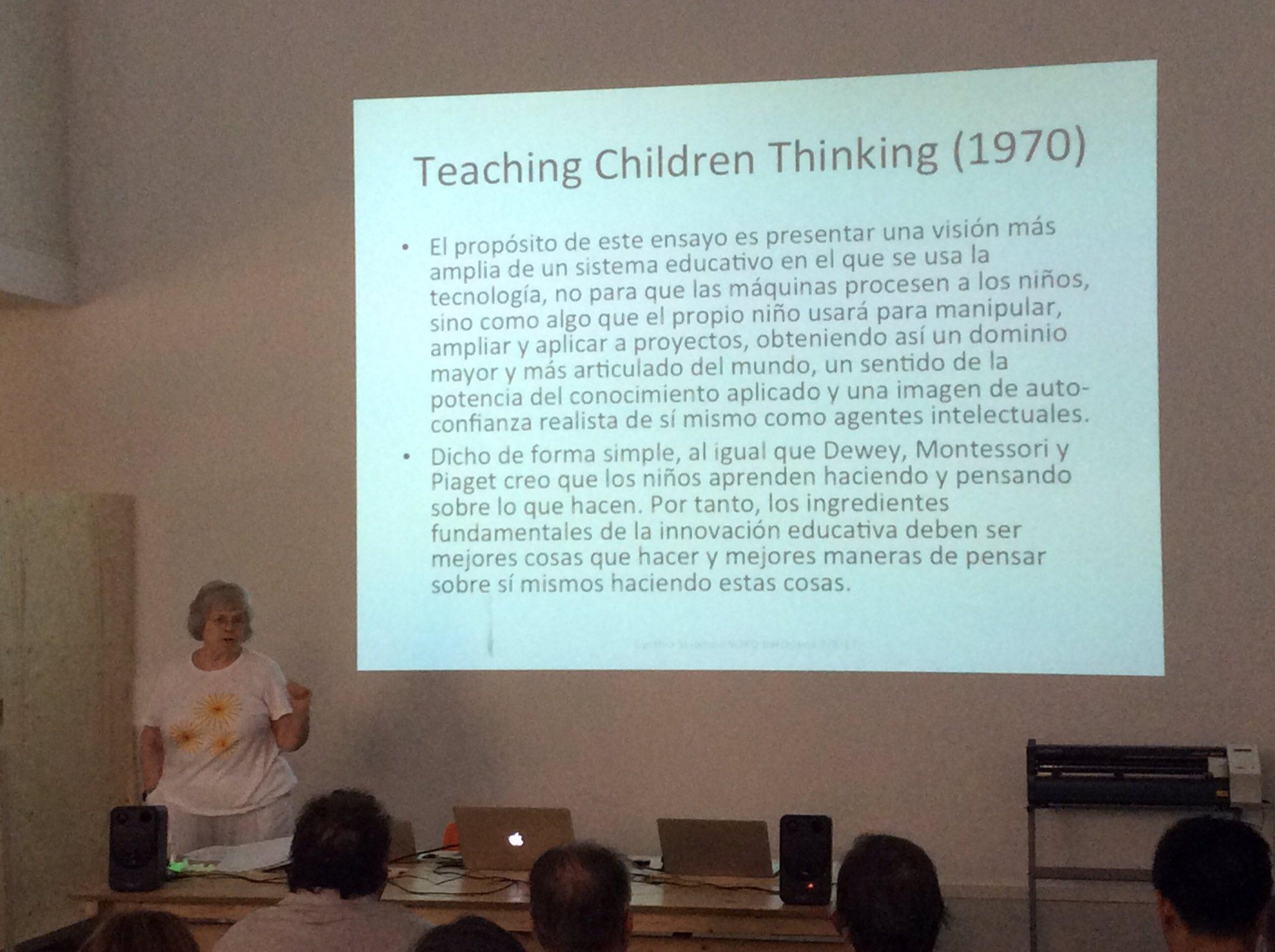 Sense cap mena de dubte, els infants aprenen fent i pensant sobre allò que fan. No és res de nou, com veieu! Cynthia Solomon a #50yearsLOGO https://t.co/037VKX2KvU