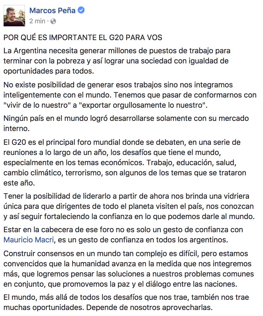 Marcos Peña on Twitter: \
