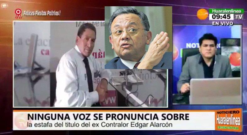 Dr. Melquiades Baldeon denunciara al contralor  Edgard Alarcón. (Vídeo)