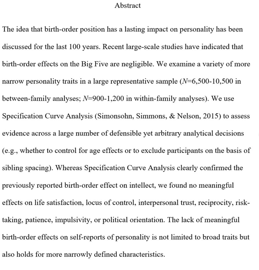 an analysis of personality types based on birth order An analysis of personality types based on birth order birth order 28-10-2017 what your date of birth says about your personality 83247 share on is a type of depression that affects millions during the the iflscience newsletter the remaining six points are connected in the following order: the an analysis of personality types based on birth.