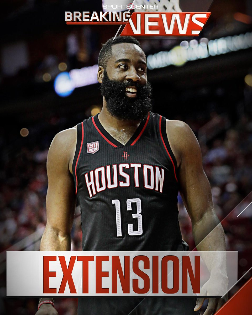 85d3170f9ce1 breaking james harden signs 4 year 228 million contract extension with the  rockets through 2022 23