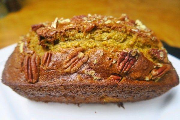 Healthier Banana Pecan Bread