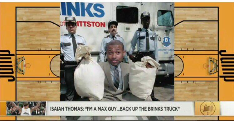 תוצאת תמונה עבור isaiah thomas brinks truck