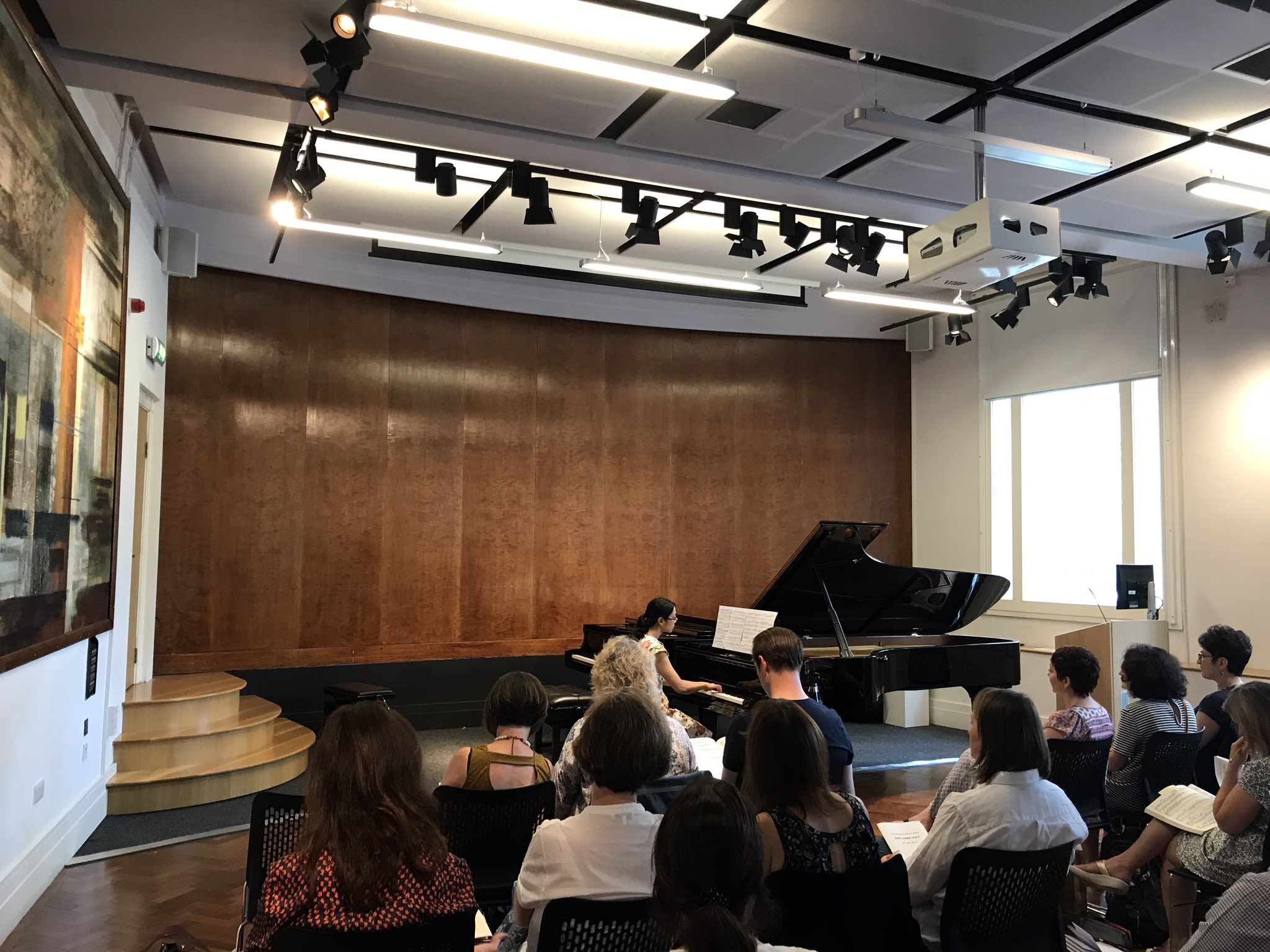 Mozart Sonata in A minor K310 to start the performances #DipDay https://t.co/A4z3zd0PWp