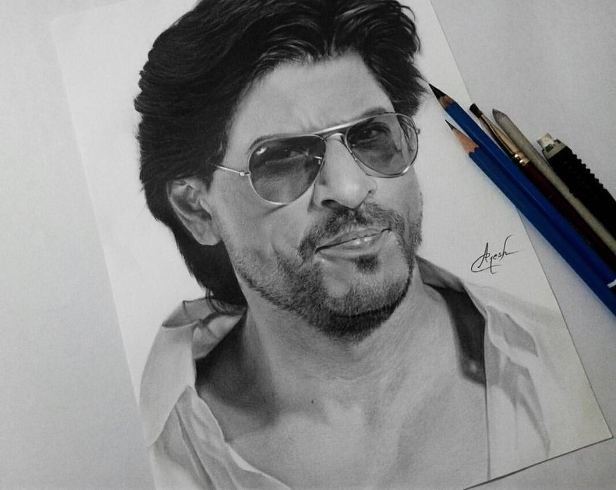 Srk universe on twitter picture to sketch an amazing graphite pencil sketch of shah rukh khan via https t co pjp6c56q0b