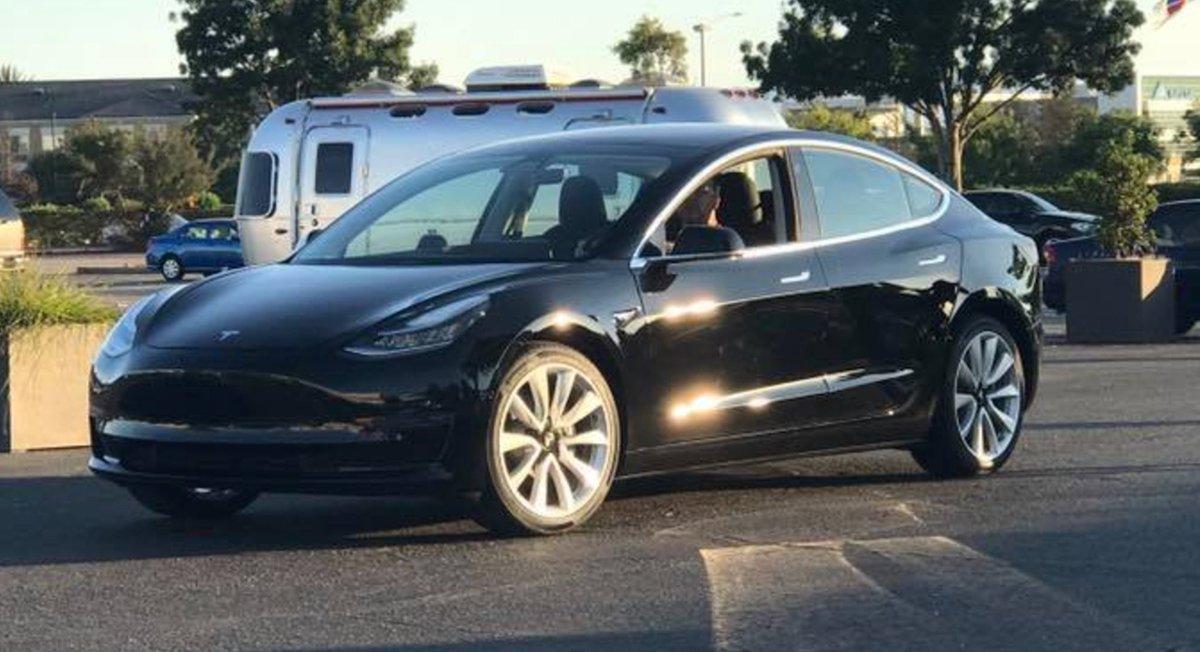 Teslarati On Twitter First Tesla Model 3 Production Car Built