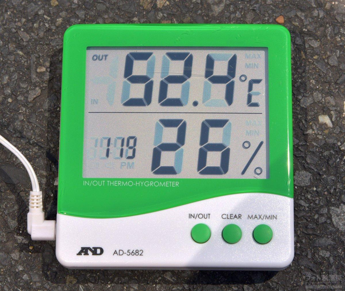 現在の秋葉原は歩行者天国が始まりした。大変な暑さでアスファルト表面温度は…なんと52.4℃! 湿度は…