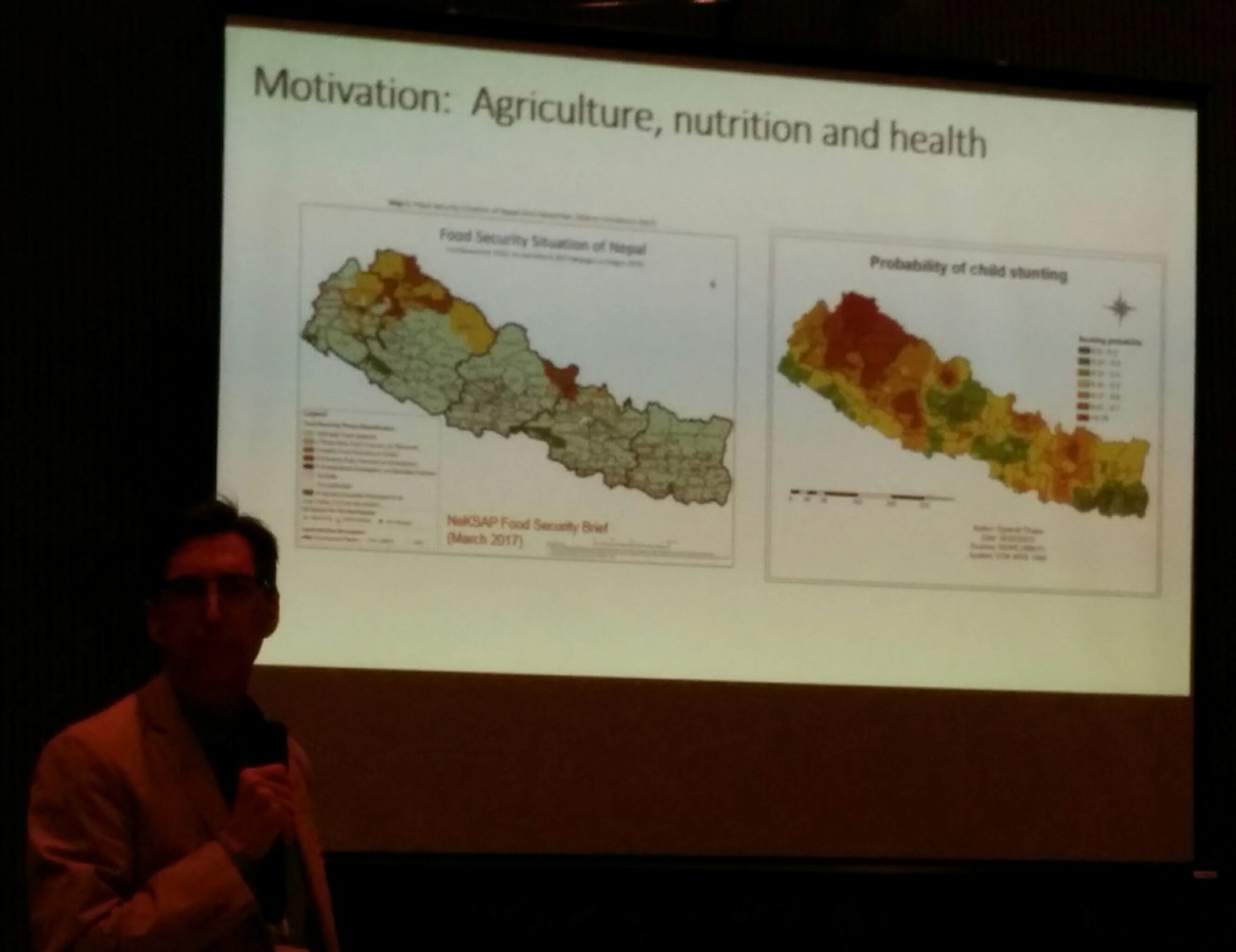At #AgNutSympo in Kathmandu, @ProfShively from @PurdueAgEcon presents economic factors behind malnutrition in Nepal https://t.co/NdL7mN9jfJ