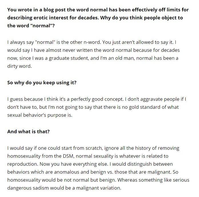 Heterosexuality is not normal