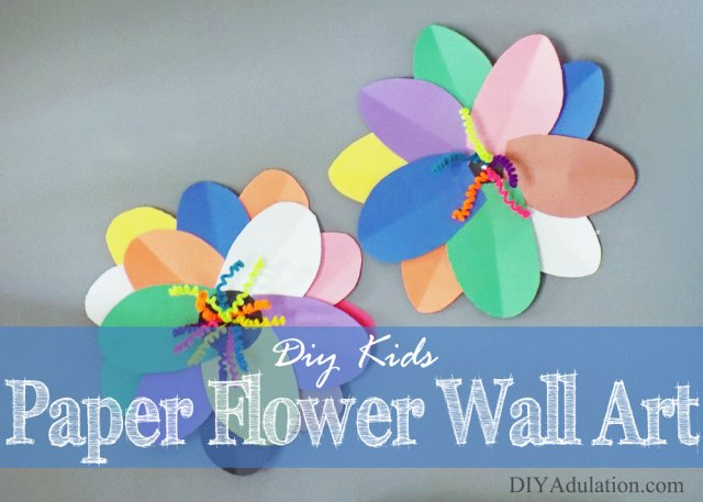 DIY Kids Paper Flower Wall Art :: Easy Summer Craft for Kids