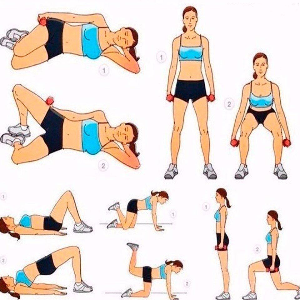 Упражнения дня похудения
