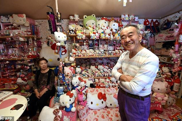 457a60d84a8ad5 this retired japanese policeman has the worlds largest hello kitty  collection you can do that when