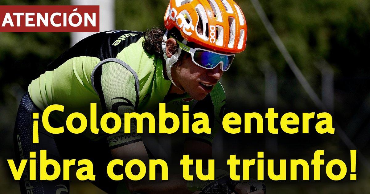 #ATENCIÓN @UranRigoberto ganó la etapa reina en @LeTour. ¡Gigante el colombiano! https://t.co/1psERjM695 🇨🇴🚵😍👏🙌 https://t.co/BlDgy6Q3Ta