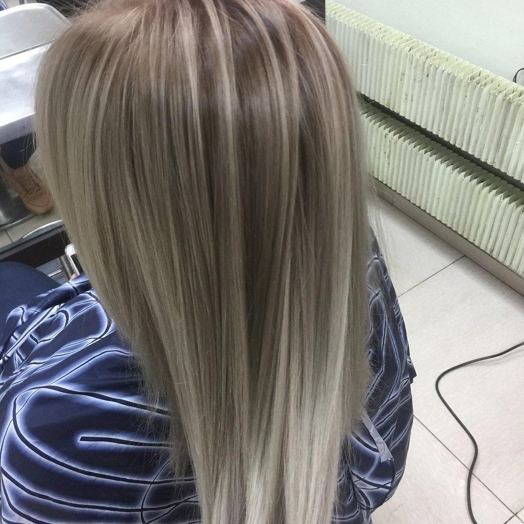 окраска волос тонирование и мелирование фото ведь так