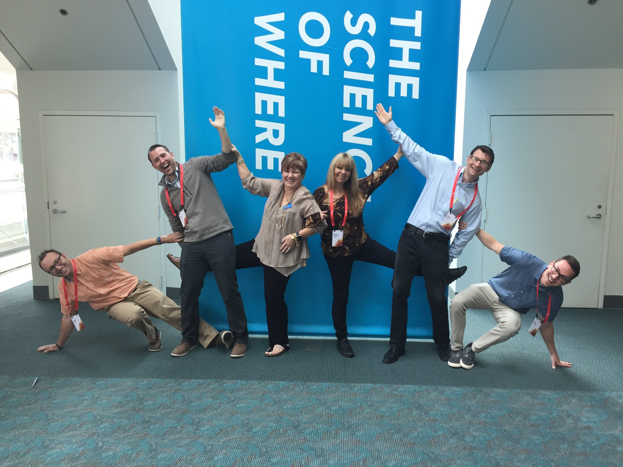 Showing our zany side @deepseadawn but are we #DoingItWright tho? @EsriUC #EsriUC #TheScienceofWhere #OldSchoolAssistants https://t.co/i5FwKJHQVk