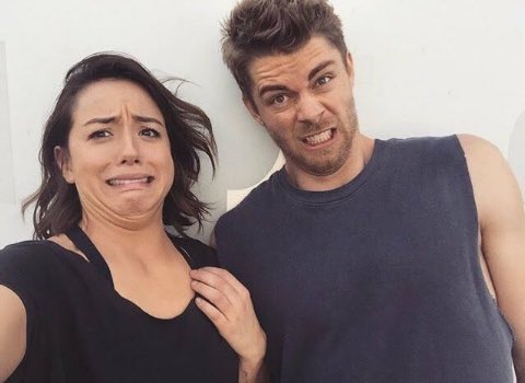 Chloe Bennet and Luke Mitchell appreciation #throwback