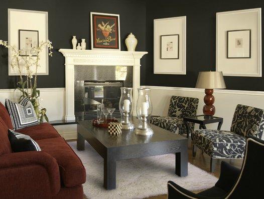 Don&#39;t be afraid to color your walls black! #interiordesign #interiors #livingroom #designthinking #interiors<br>http://pic.twitter.com/zFlz45GcE5