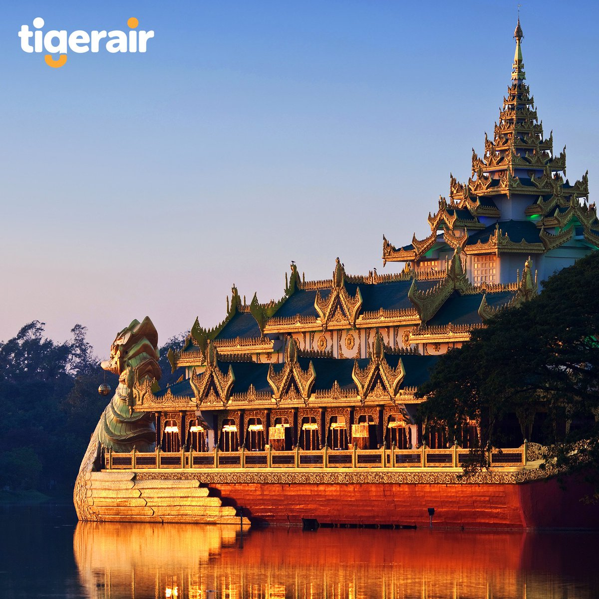Visit Yangon and explore the Karaweik Palace to experience the Burmese culture. Take off to 60 destinations as we become one with @flyscoot https://t.co/8ud4zxXLVN