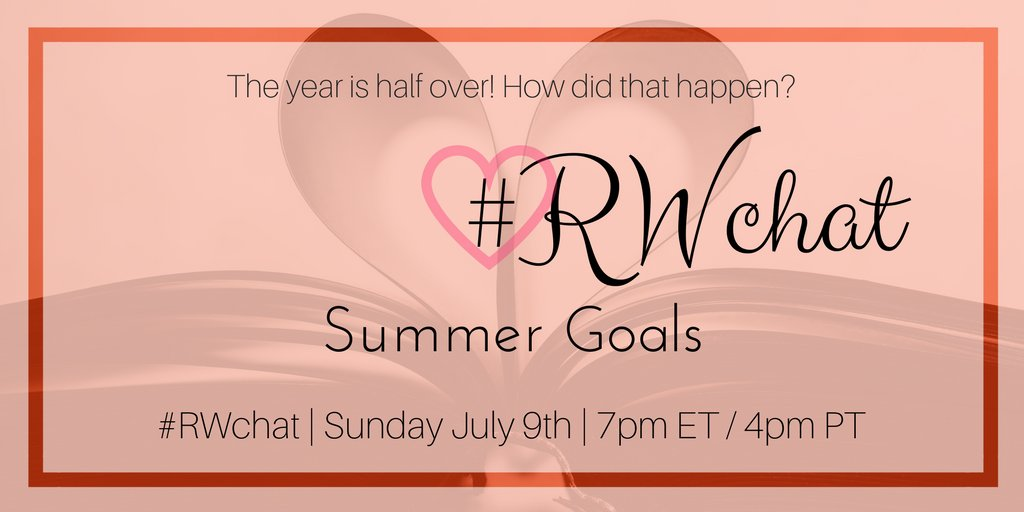 Remember the goals you set in January & reviewed in April? (Don't worry if you don't.) Tonight we'll check in on those. #RWchat https://t.co/Qeki1fLICN