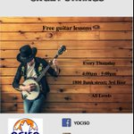 Ever want to learn how to play guitar? Join us tomorrow & every Thursday in July & August! Free Guitar Lessons for #Ottawa #youth!