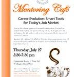 Mentoring Cafe July 27 - Career Evolution: Smart Tools for Today's Job Market. Speaker: Dr. Ahmed Ali https://t.co/cTTBTLhB2H
