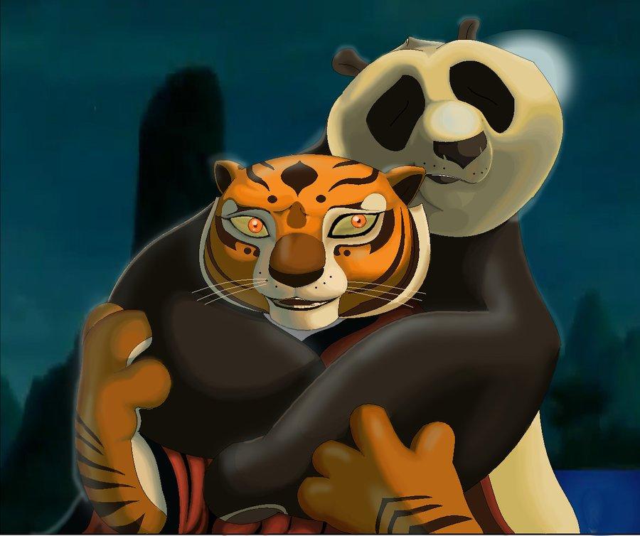 Картинки из кунг фу панда по и тигрица любовь