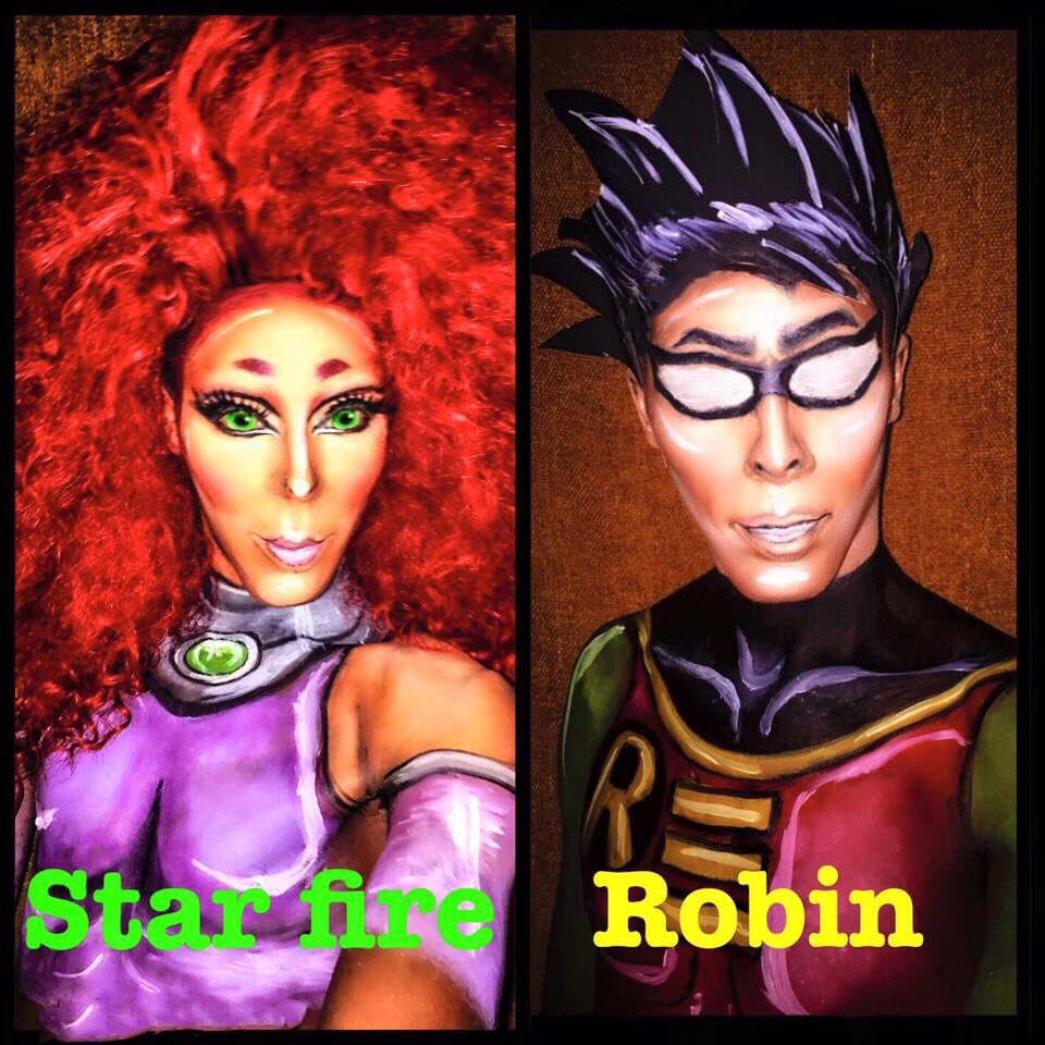 Robin and starfire repost #NinaBoNinaBrown #dragqueen #rpdr9 #RPDR #Te...