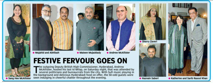 Nice coverage of @DHCAndrew #Eidmilan in @DeccanChronicle. Will miss HE Andrew as he won many hearts thru his warmth &amp; charming personality<br>http://pic.twitter.com/DO2GphAVX8