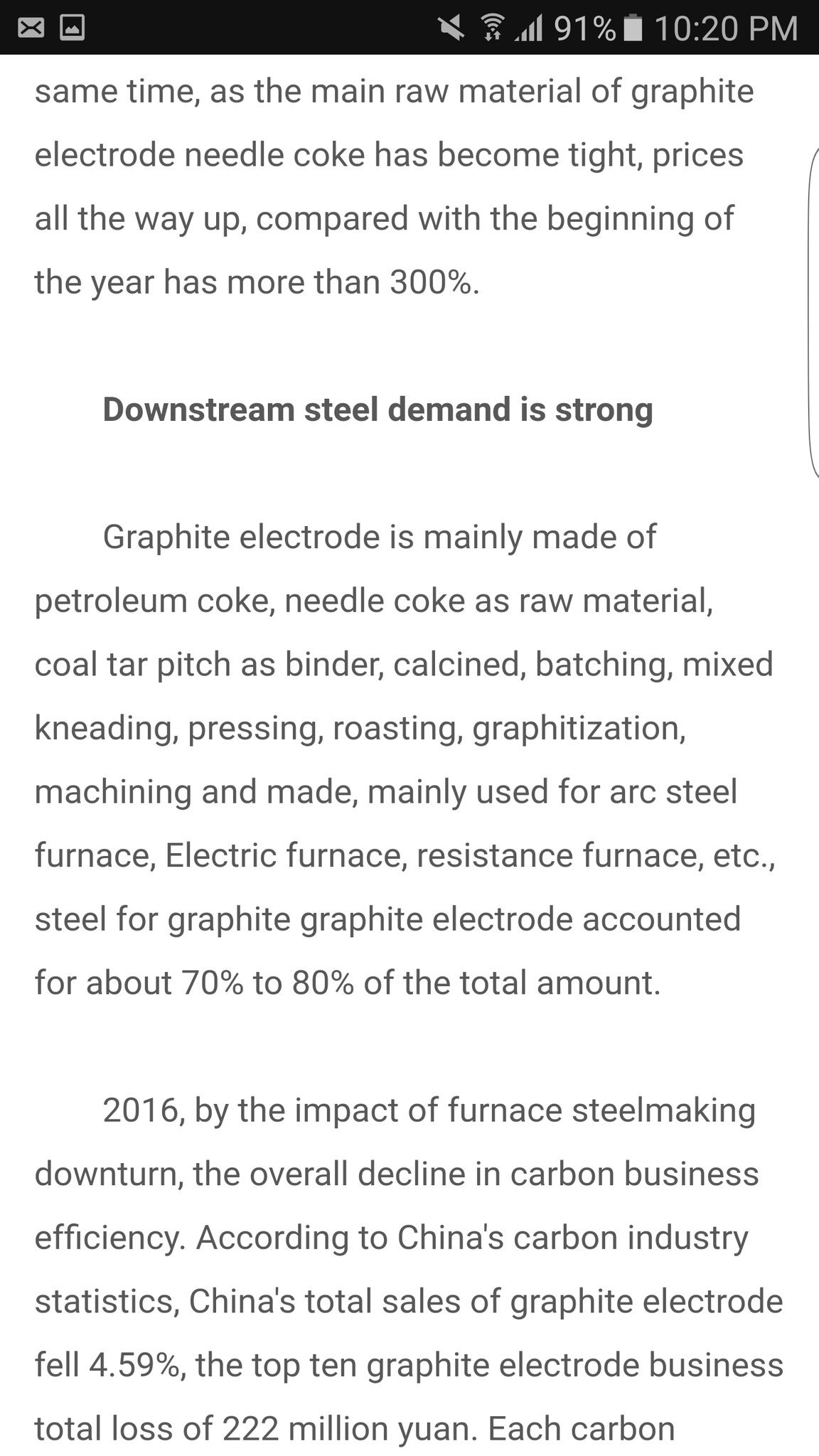 michael langford on twitter interesting article graphite electrode china supply pricing for batteries lithium cobalt highest profits