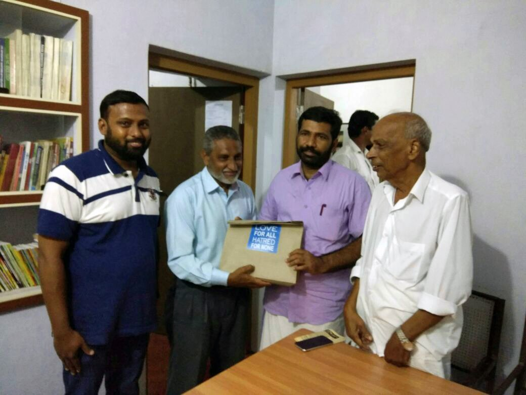 #AMJ  #Payangadi #Kerala distributed #Eid gifts to #MLA TV Rajesh and to various prominent personalities on behalf of #EidMilan program<br>http://pic.twitter.com/K9nduMtm0d