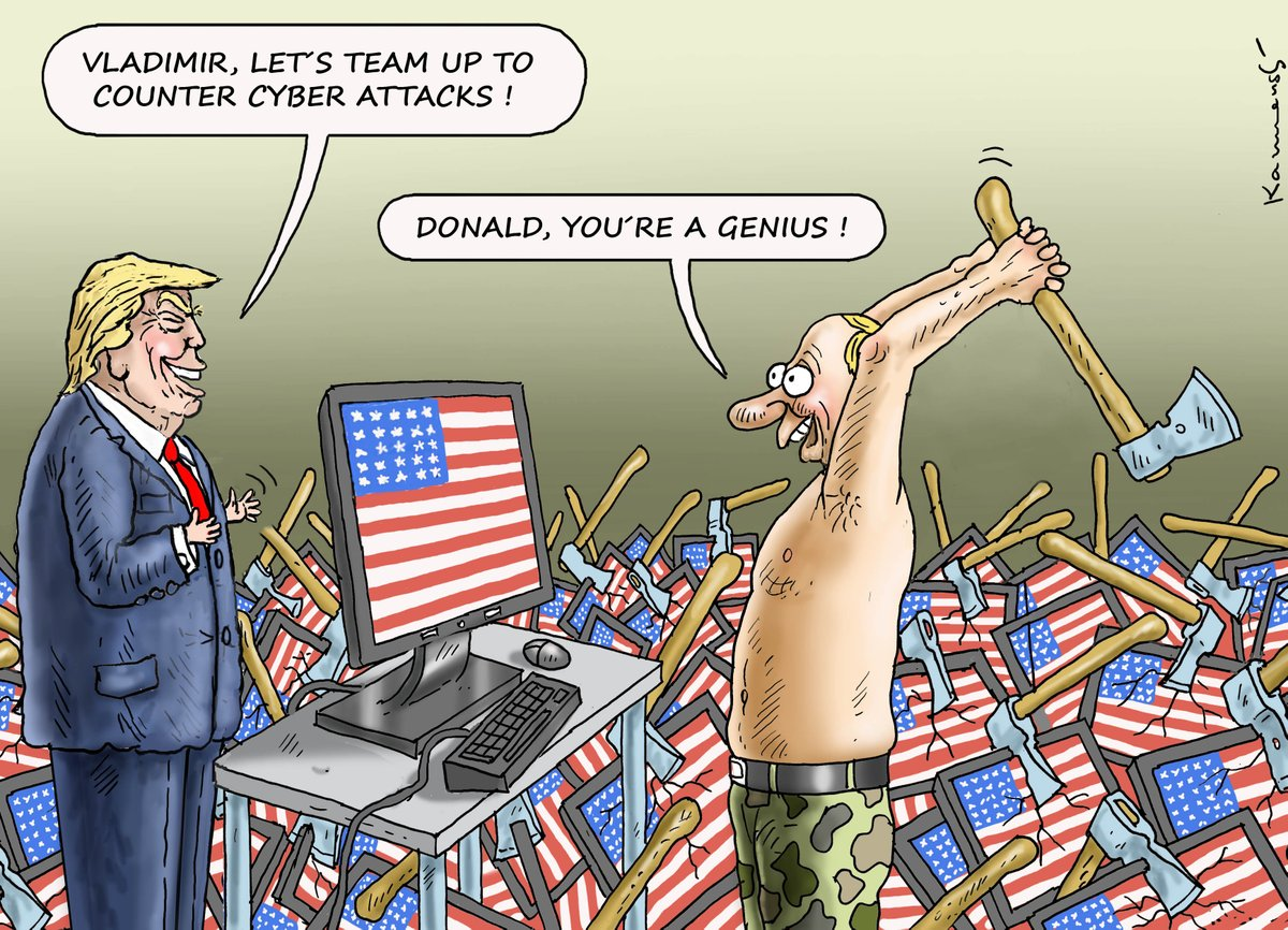 THE FIGHT AGAINST CYBER ATTACKS  http://www. spiegel.de/politik/auslan d/usa-trump-will-doch-keine-gemeinsame-hacker-abwehr-mit-russland-a-1156928.html  …    http://www. facebook.com/humorkamensky      #Trump #Faschismus #Putin #G20Hamburg<br>http://pic.twitter.com/shvF6Eh7g9
